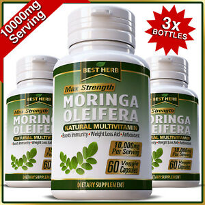 3-x-MORINGA-OLEIFERA-LEAF-PILLS-CAPSULE-NATURAL-MULTI-VITAMIN-10-000mg-ORGANIC