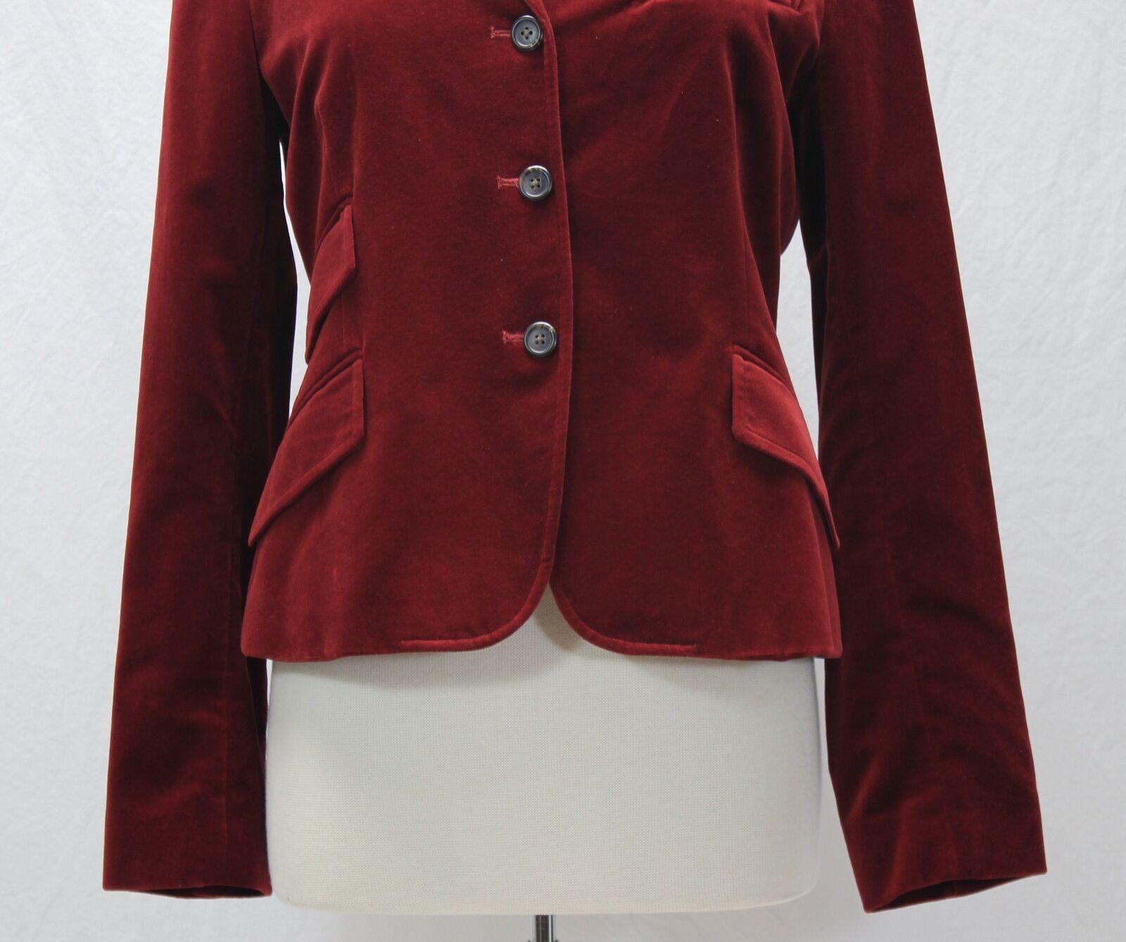 Ralph Lauren Red Velvet Blazer Jacket Size 10 - image 3