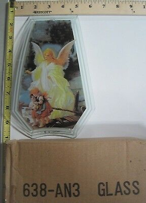 FREE US SHIP OK Touch Lamp Replacement Glass Panel Lighthouse Angel 638-BN4