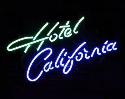 "Hotel California Neon Sign Light Handmade Visual Artwork Beer Bar Pub 17/""x14/"""