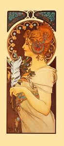 Mucha Laurel Fashion Lady Vintage Poster Repro FREE SHIPPING