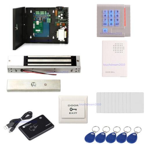 Single Door Security Door Entry Systems ID Card USB Reader EM Lock Keypad Reader