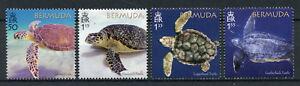 Bermuda-2018-neuf-sans-charniere-Turtle-projet-vert-a-ecailles-Loggerhead-Turtles-4-V-SET-STAMPS