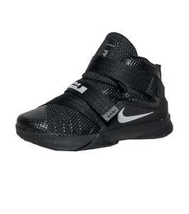 official photos d7b0f 2a1bd Details about Nike Lebron Soldier IX (TD) # 776473 001 Black Little Kids Sz  5