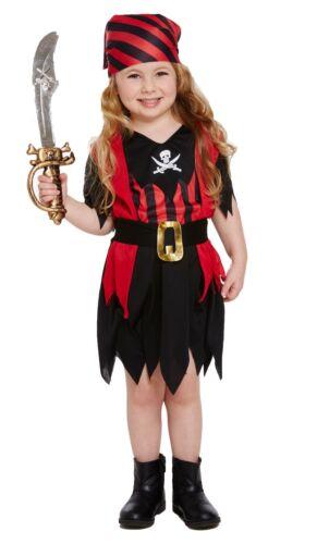 PIRATE GIRL TODDLER KIDS FANCY DRESS GIRLS PARTY COSTUME// STRIPE BANDANA 2-4 HB