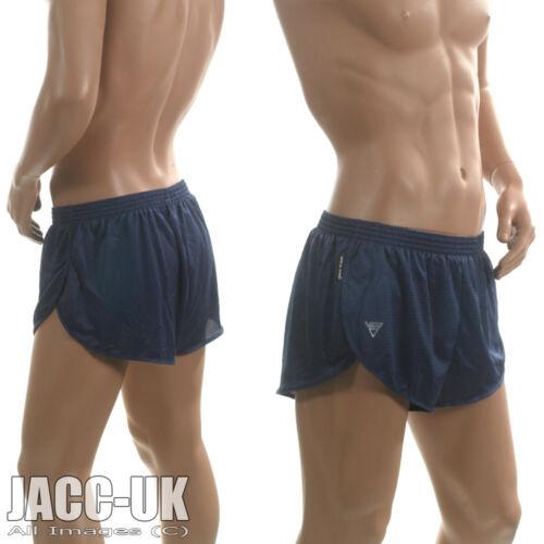 NEW Mens XS VIGA High Split Leg PACER Running Shorts Gym Sprinter RUN.187 NAVY