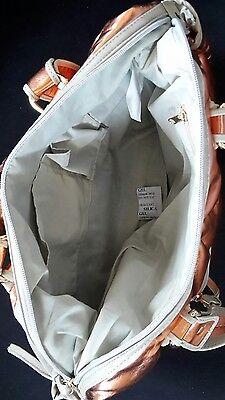 Handtasche apricot metallic NEU