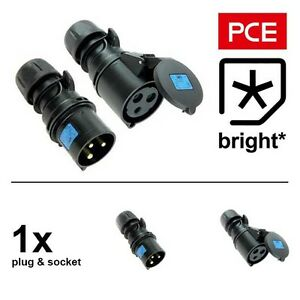 evento etapa 1 X 16 Amp PCE IP44 Negro ceeform Hembra Conector 16A