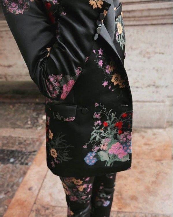 ERDEM X H&M 2 Piezas Traje Blazer  De Jacquard Floral Pantalones M L 8 12 Reino Unido 12 16 Negro  Esperando por ti
