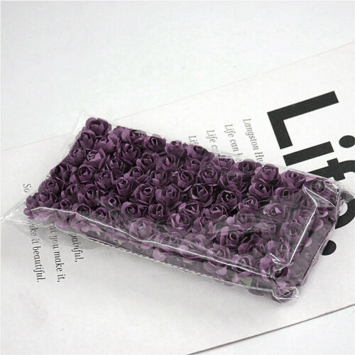 72//144Pcs Mini Papel Rosa Multicolor ramo de flores hecho a mano Adorno De Bricolaje