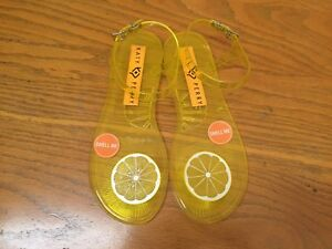b0fff71567c Image is loading KATY-PERRY-SCENTED-GELI-LEMON-SANDALS-NEW-SIZE-