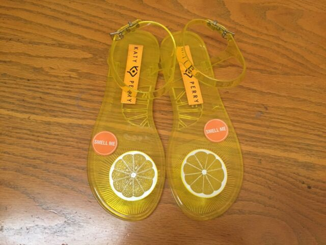 7ebe566064e1 KATY PERRY SCENTED GELI LEMON SANDALS NEW SIZE 5