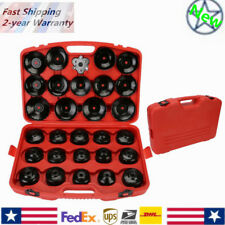 Auto Cup Type Oil Filter Cap Wrench Socket Removal Tool Set Withcas 30pcs Hq