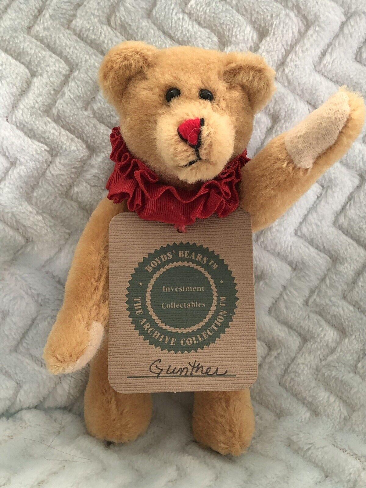"BOYDS Bears Lot W VERY RARE Wool Bear - Gunther Gunther Gunther Von Bruin  5012-WB 1993 6"" MWT 1ee971"