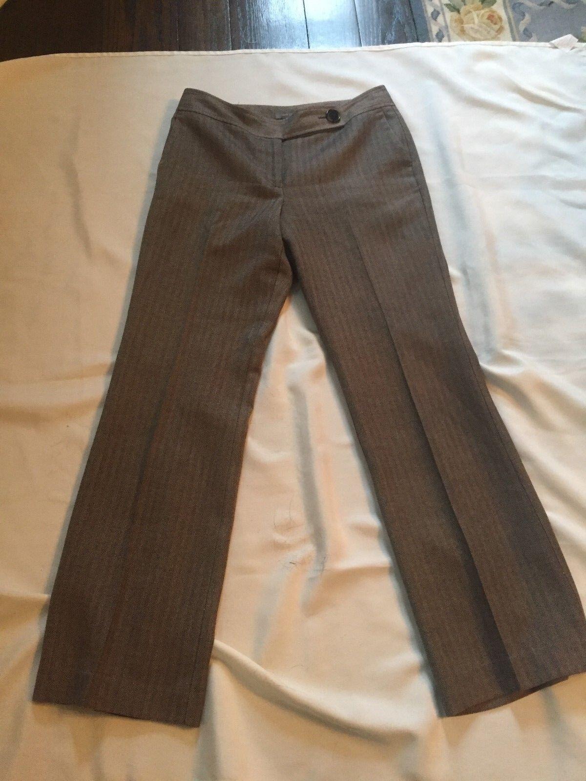 Ladies Ann Taylor Brown Tweed Pants Size 6