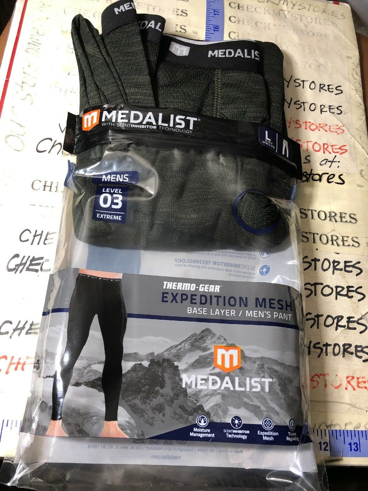 NEW MEDALIST Men's Thermo-Gear Level 3 EXPEDITION MESH BASE  Layer PANT SZ L