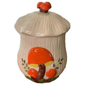Vintage-Sears-Arnel-039-s-Large-Mushroom-Canister-Cookie-Jar-11-034-1970-s