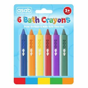 Baby-Bath-Crayons-Pack-of-6-Non-Toxing-Education-Fun-Toy-Easy-Washable-crayoning