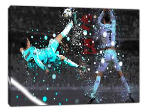 Cristiano Ronaldo Skill ROVESCIATA Picture Print ON Framed Canvas Wall Art Decr