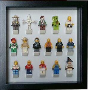 Fuer-Lego-16-Minifiguren-Batman-Disney-Star-Wars-Vitrine-Setzkasten-schwarz