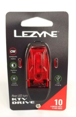 Black Lezyne KTV Drive 10 Lumens Taillight