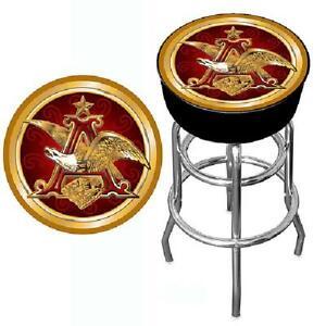 Global Budweiser A Eagle 30 Padded Bar Stool 7445017868862 Ebay