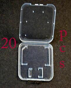 Lot-20-Plastic-Case-For-SD-card-MicroSD-memory-card-SanDisk-Kingston-Transcend