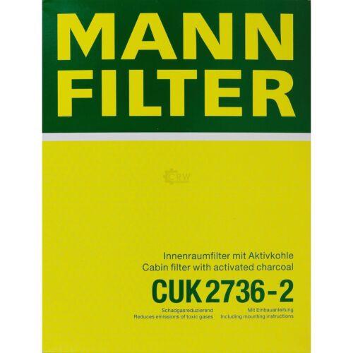 ORIGINALE MANN-FILTER Carbone Attivo Filtro Polline Filtro Dell/'Abitacolo Filtro CUK 2736-2