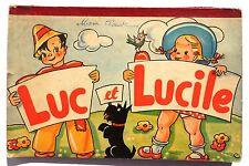 Luc et Lucile. Editions Lito sd années 50.  Album animé pop hop. Bel état