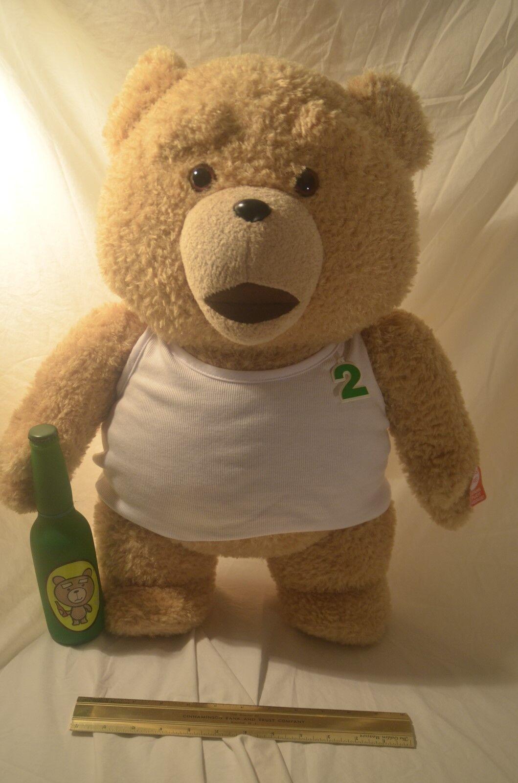 Ted 2 Talking Plush Teddy Bear in Weiß Sleeveless 24  R Rated for Adults NWT