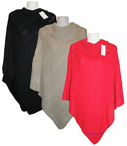 New-Ladies-Cable-Knitted-Poncho-Sweater-Jumper-Top-UK-Plus-Sizes-16-to-26