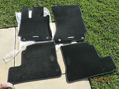 2006-2012 Black with Grey Trim Connected Essentials Tailored Custom Fit Car Mats for S Class Car Mat Set