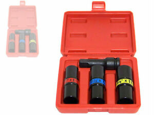 "4 pc 1/2"" Dr Flip Lug Nut Impact Socket Back and Front Metric/SAE Thin Wall tool"