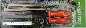 """Chain Saw Sharpening Kit, 7/32"""" for any brand Files Two Handles Depth Gauge"""
