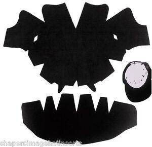 1 Paquet Noir Casquette De Baseball Couronne Insert Moule Combo | Bonnet Blanc De Jade