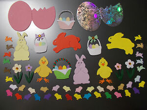 EASTER-CARD-MAKING-EMBELLISHMENTS-RABBITS-CHICKS-EGGS-etc-GREAT-CHOICE