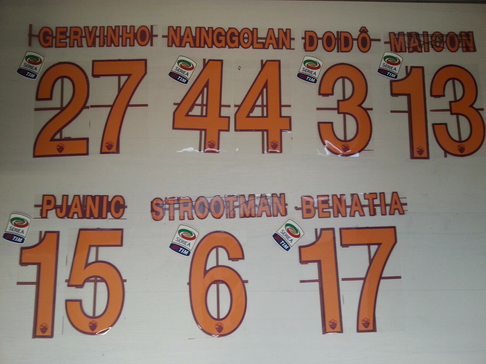 2687 ROMA NAME SET NAME UND ANZAHL ROMA TRIKOT JERSEY 2014 2013 2014 JERSEY CUSTOMIZATION 7950cb