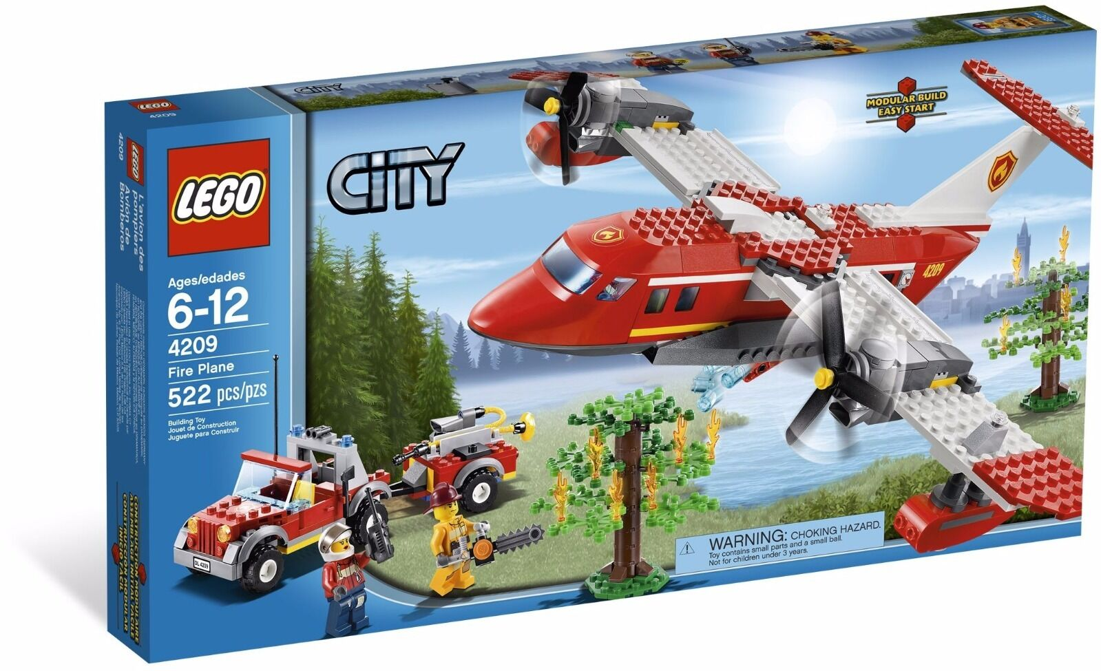 Lego City Fire Plane () (jubilados 2012) (muy Raro) (Nuevo)