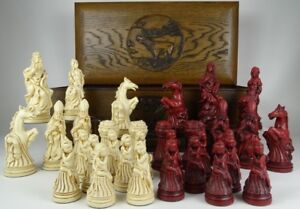 Large Vintage Style Louis XIV French Chess Set Pieces   eBay