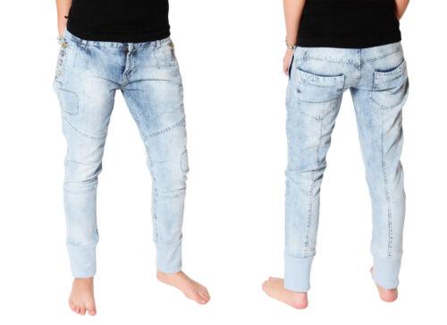 VSCT Tronchetti Donna Jeans Pantaloni 7//8 Boyfriend Denim TUBO used vintage blu alla caviglia