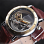 Luxury-Men-039-s-Skeleton-Bridge-Leather-Steampunk-Automatic-Mechanical-Wrist-Watch
