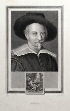 GUIDO RENI Italian Painter original antique portrait print 1825