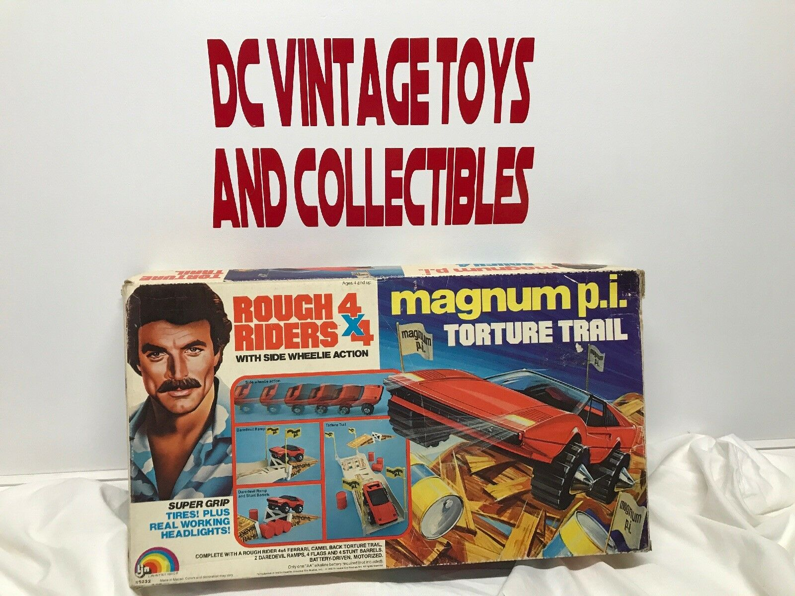 LJN MAGNUM P.I.Torture Trail Rough Riders 4x4 Action playset,mib. NEW 1982