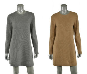 Details about Women's Polo Ralph Lauren Wool Cashmere Suede Elbow Patch Sweater Dress New $245