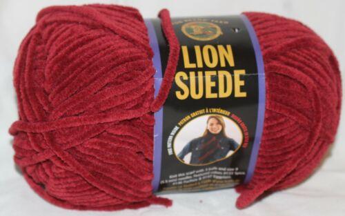 1 skein Lion Brand Yarn Lion Suede Garnet 3 oz each