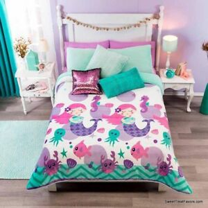 Details about LITTLE MERMAID Comforter QUEEN 1PC Bedding Blanket Sherpa  Decoration Girl GIFT