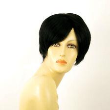 perruque femme 100% cheveux naturel courte noir ref LAURA 1b
