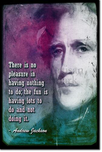 Andrew Jackson Art Print Poster Quote Gift