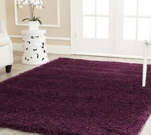 Image Is Loading Solid Purple Plum Shag Area Rug Rugs Carpet