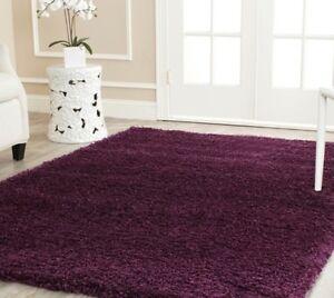solid purple plum shag area rug rugs carpet 8 39 x 10 39 4 6 5 8 7 10 9 12 13 11 15 ebay. Black Bedroom Furniture Sets. Home Design Ideas